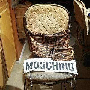 Moschino Redwall Shoulder Bag And Makeup Bag
